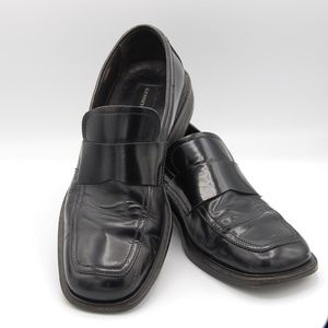 Kenneth Cole Loafers Slip On Black Leather Size 8